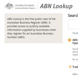 Business Register ABN Lookup